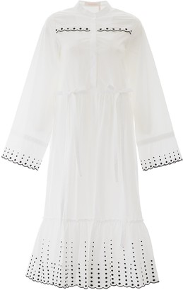 See by Chloe Embroidered Belted Dress