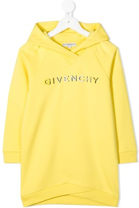 Givenchy Kids Embroidered Logo Hooded Dress