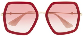 Gucci Oversized Thick Frame Sunglasses