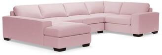 Apt2B Melrose 3pc Velvet Sectional Sofa