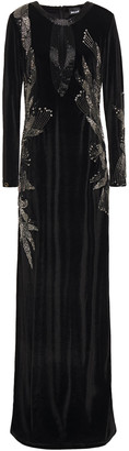 Just Cavalli Embellished Velvet Gown