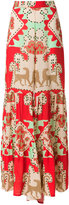 Adriana Degreas - printed wide trousers - women - Viscose - P