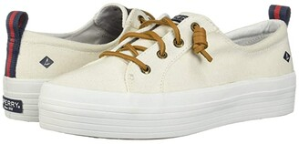 Sperry Crest Vibe Triple Canvas (White) Women's Shoes