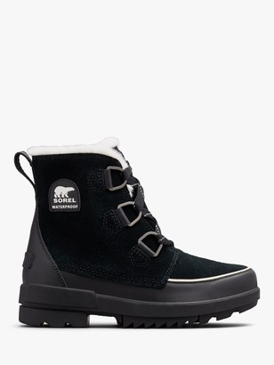 Sorel Torino II Lace Up Ankle Snow Boots, Black