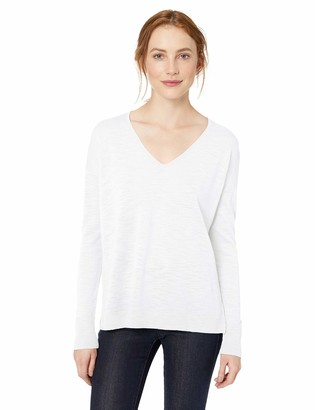 Daily Ritual Amazon Brand Women's Lightweight Relaxed Fit V-Neck Pullover Sweater