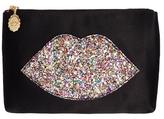 Multi Glitter Lip Top Zip