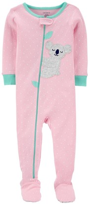 Carter's Toddler Girl Koala Zip Footed Pajamas