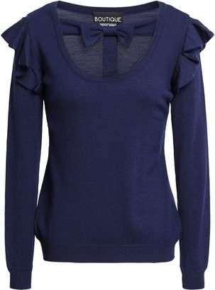 Moschino Bow-embellished Cutout Virgin Wool Sweater