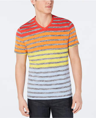 Alfani Men Colorblocked Stripe V-Neck T-Shirt