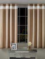 By Caprice Parisian Matt Satin Lined Eyelet Curtains