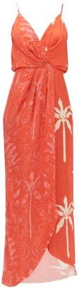 Johanna Ortiz Colour Flow Floral-print Jacquard Dress - Womens - Red