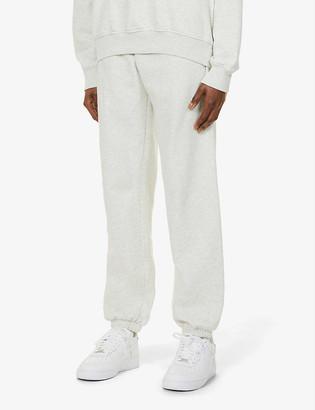 Sporty & Rich Good Health brand-print cotton-jersey jogging bottoms
