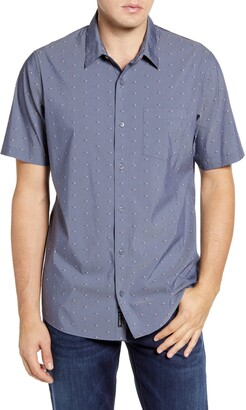 Travis Mathew TravisMathew Giggle Juice Regular Fit Short Sleeve Button-Up Shirt