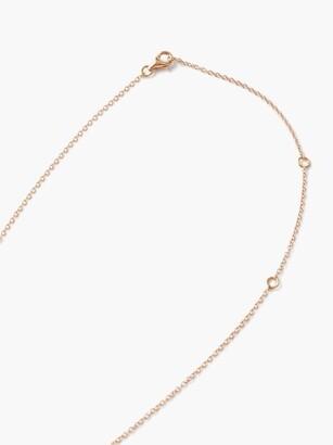 Shay Diamond & 18kt Gold Illusion Pendant Necklace - Rose Gold
