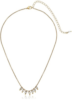 Sorrelli Lisa Oswald Collection Crystal and Brass Choker Necklace
