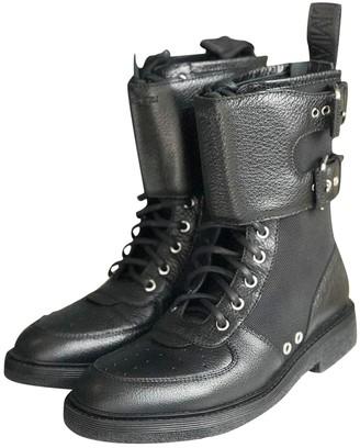Balmain Black Leather Boots