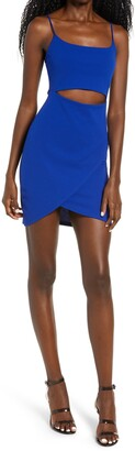 Lulus Cutout on the Town Cutout Body-Con Minidress