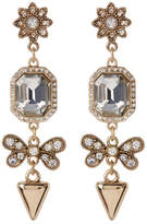 ABS by Allen Schwartz Linear Embellished Drop Earrings