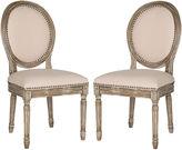 Safavieh Beige Hunter Side Chairs, Pair