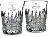 Waterford Chicago Cubs 2016 World Series Champions Lismore Diamond Double Old Fashioned Glasses, Set of 2