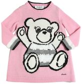 Simonetta Bear Intarsia Wool Knit Dress