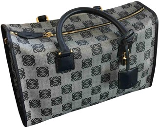 Loewe Amazona Grey Cloth Handbags
