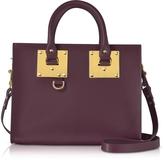 Sophie Hulme Aubergine Albion Saddle Leather Medium Tote Bag