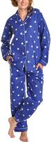 Angelina Giftable Blue & White Star Flannel Pajama Set