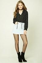 Forever 21 FOREVER 21+ Frayed Denim Mini Skirt