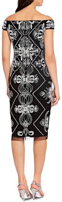 Adrianna Papell Beaded Short Dress