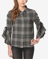 Buffalo David Bitton Plaidora Tie-Sleeve Plaid Shirt