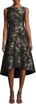 Lafayette 148 New York Juliana Sleeveless High-Low Hem Spark-Print Dress, Multi
