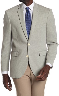 Vince Camuto Silver Woven Two Button Notch Lapel Sport Coat
