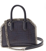 Stella McCartney Falabella Box crocodile-effect top-handle bag