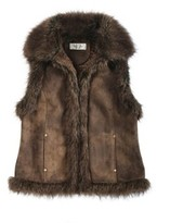 Pendleton Luxe Faux Fur And Suede Vest