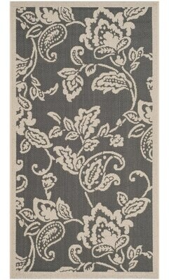 "Safavieh Highland Lily Anthracite Area Rug Rug Size: Rectangle 2'7"" x 5'"