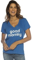 Peace Love World Good Morning Marilyn V-Neck Tee