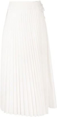 Moncler Tie-Fastening Pleated Skirt