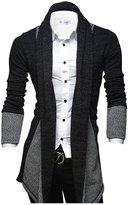 Tom's Ware Mens Classic Fashion Marled Open-Front Shawl Collar Cardigan TWGG1308