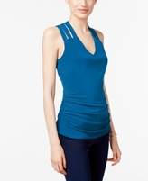 INC International Concepts Petite Lattice-Back Top, Created for Macy's