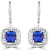 Effy Jewelry Effy Gemma 14K White Gold Tanzanite and Diamond Earrings, 2.38 TCW