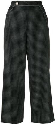 Piazza Sempione Check Cropped Trousers