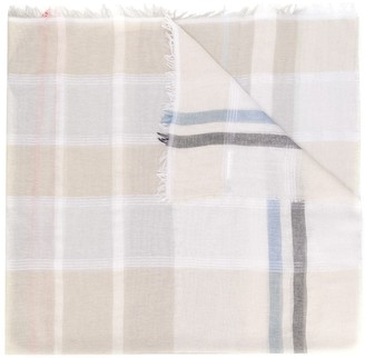 Peserico Lightweight Checked Scarf