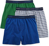 Hanes Ultimate 3-pk. ComfortFlex Knit Boxers - Boys 6-20