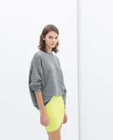 Zara Draped Mini Skirt