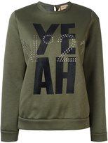 No.21 yeah print sweatshirt
