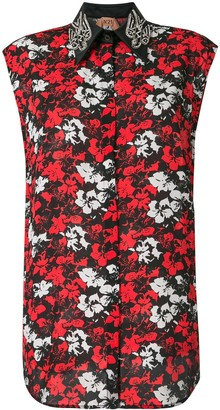 No.21 Embroidered Floral Print Blouse