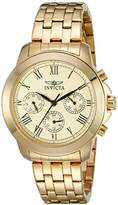 Invicta Women's 21654 Specialty Analog Display Swiss Quartz Gold-Plated Watch