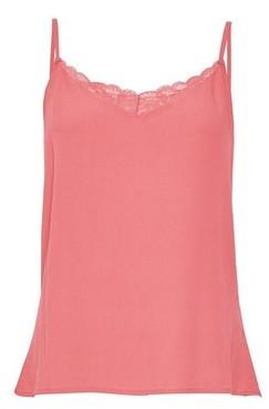 Dorothy Perkins Womens Vero Moda Pink Lace Singlet, Pink