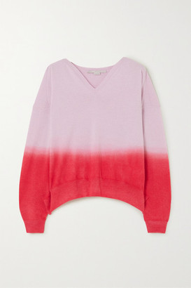 Stella McCartney + Net Sustain Ombre Cashmere And Wool-blend Sweater
